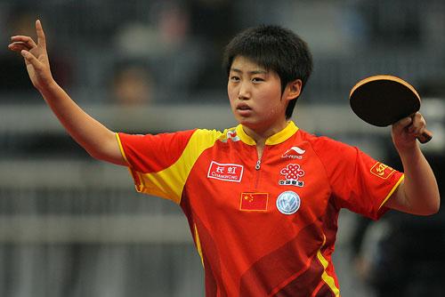 图文:细数世乒赛经典表情 郭跃食指指天回球