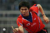 图文:世乒赛团体赛最佳回球动作 柳承敏姿势怪