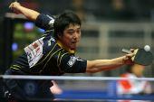 图文:世乒赛团体赛最佳回球动作 韩阳全力出击
