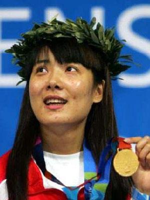 获得雅典奥运冠军的杜丽