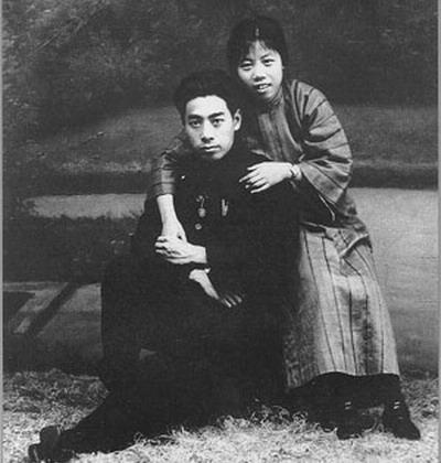 1925年8月8日周恩来与邓颖超在广州结婚