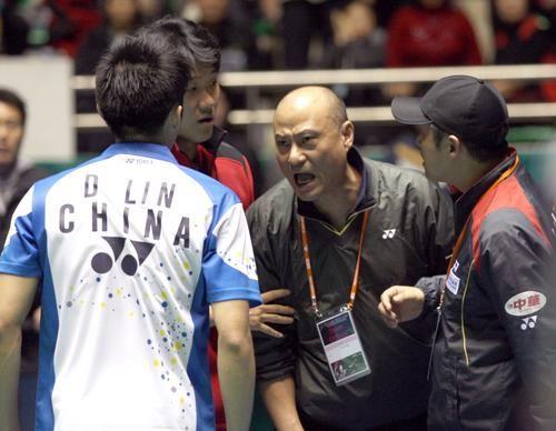 林丹与现任韩国单打总教练的李矛发生冲突
