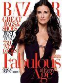 黛米-摩尔携3个女儿登《Bazaar》 大谈新欢旧爱