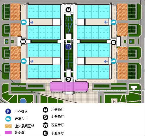 新国展一期场馆布置图2