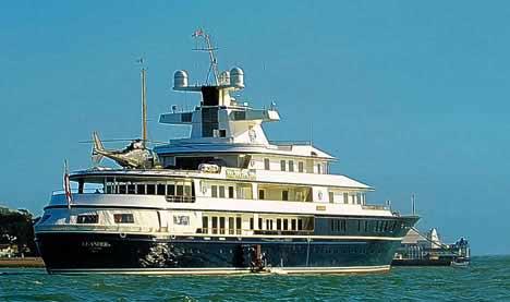 """价值5千万英镑的""""利安得""""号游艇"""