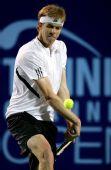 图文:网球频道赛1/4决赛 奎罗伊反手大力回球