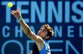 图文:网球频道赛1/4决赛 德里奇准备大力发球