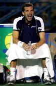 图文:网球频道赛1/4决赛 贝内特务无奈怒吼