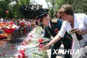 图文: 哈萨克斯坦纪念反法西斯战争胜利62周年