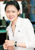 图文:台北九球美女张舒涵 纯净微笑