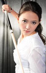 图文:台北九球美女张舒涵 靓丽容颜