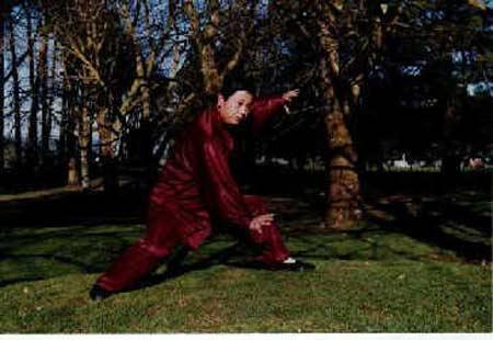 """薛乃印曾自称是""""武式太极第六代传人"""",平日里教授太极拳"""