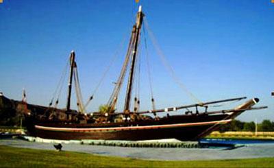"""马斯喀特火炬线路解读之一 """"苏哈尔号""""帆船"""