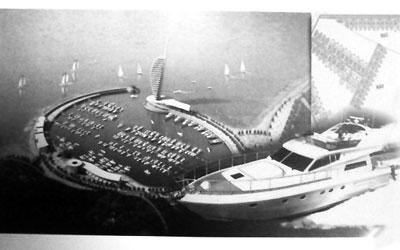 六星级酒店和游艇码头模拟图