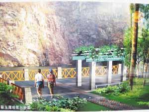 火炉山森林公园翠玉潭观景台效果图
