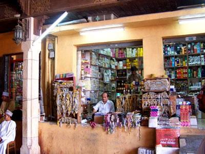 外国游客集中的马斯喀特传统市集