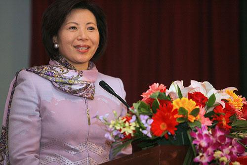 北京奥组委新闻宣传部常务副部长王惠致辞