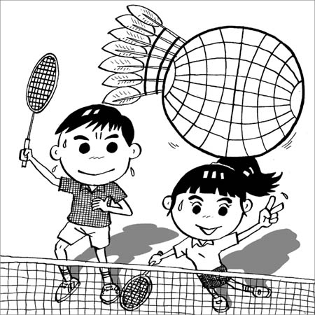 漫画:韩国放言包揽奥运双打金牌