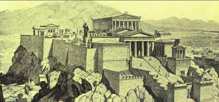雅典卫城复原图