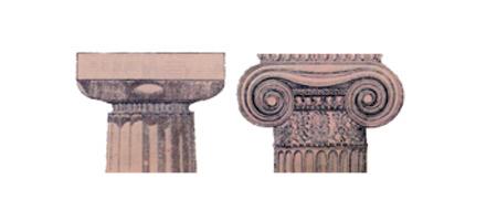 多利亚式廊柱和爱奥尼亚式廊柱