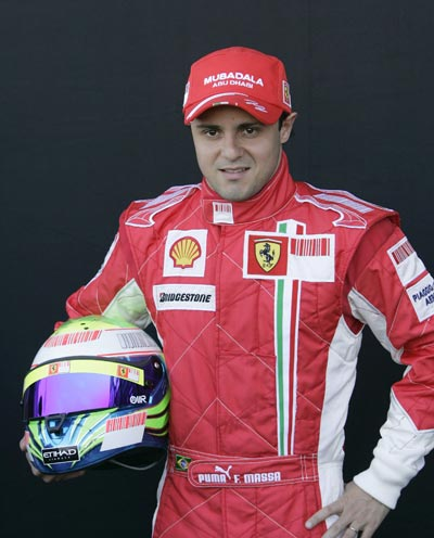 图文:2008赛季F1车手正照 法拉利车手马萨