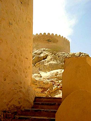 古堡的层层阶梯