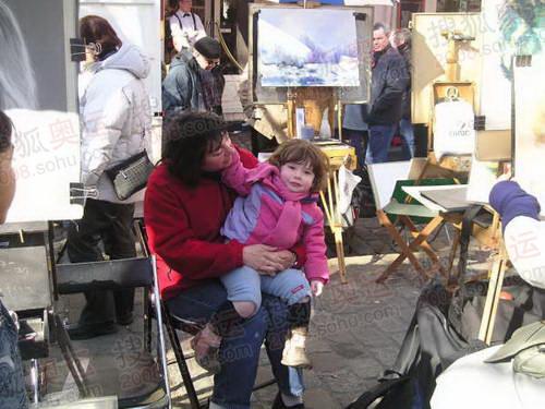 图文:巴黎风光 蒙马特高地街头画家4