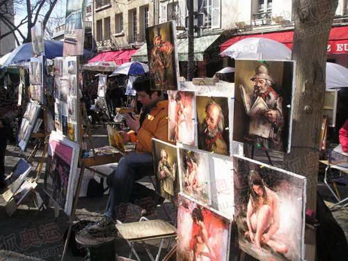 图文:巴黎风光 蒙马特高地街头画家