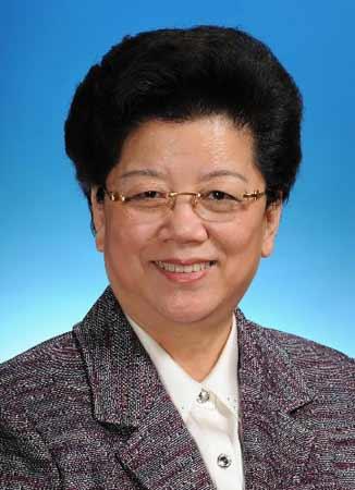 第十一届全国人民代表大会常务委员会副委员长陈至立。新华社发