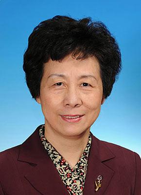 第十一届全国人民代表大会常务委员会副委员长严隽琪。新华社发