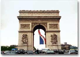 图文:巴黎城市名片 凯旋门