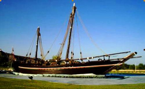 1980年从马斯喀特航行至广州的苏哈尔号帆船