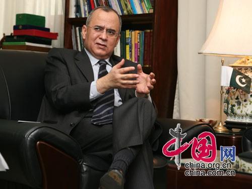 巴基斯坦驻华大使萨尔曼·巴希尔 中国网 胡迪摄影