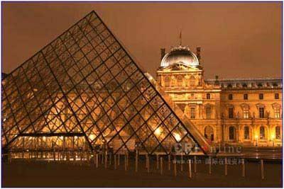 巴黎火炬传递线路解读之 卢浮宫夜景