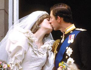 当年与查尔斯结婚的幸福时刻