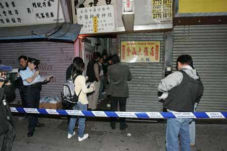 发生妓女被杀案的香港元朗同乐街唐楼。(图:香港《大公报》)