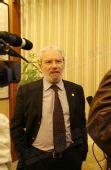 图文:希腊奥林匹亚市长访京 欣然接受媒体采访