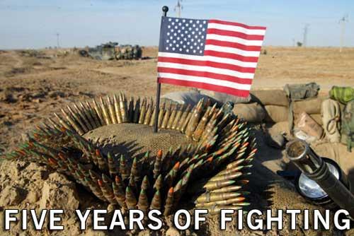 炮弹与国旗