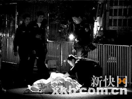 警方正在现场进行调查。陈海生/摄