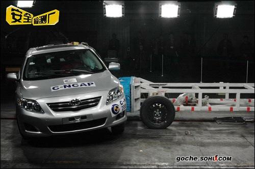 一汽丰田卡罗拉碰撞测试报道高清图片