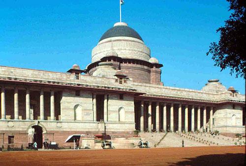 图文:印度首都新德里景点- 印度总统府