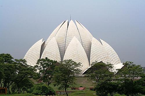 图文:印度首都新德里景点- 莲花庙