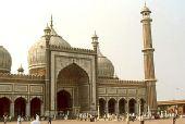 图文:印度首都新德里景点- 贾玛清真寺