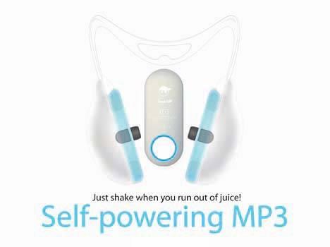 自动充电的MP3