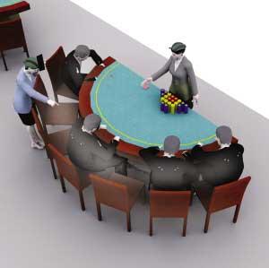 境外赌博现场有人下赌注,并同境内赌场保持联系