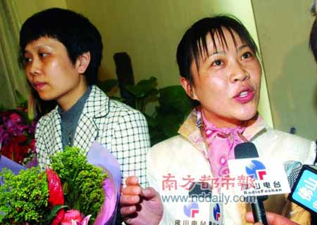胡小燕从北京归来,接受采访时滔滔不绝。