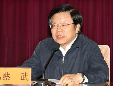 文化部部长、党组副书记蔡武 喻非卿 摄(图片来源:文化部网站)