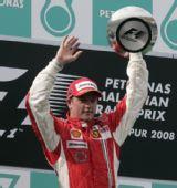 图文:[F1]马来西亚站正赛 莱科宁庆祝胜利