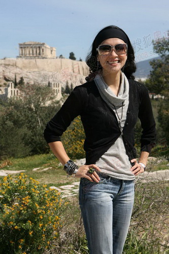 章子怡在希腊