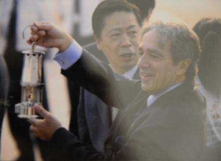 四年前柯奇帝斯·思代流斯先生在北京迎接雅典火种